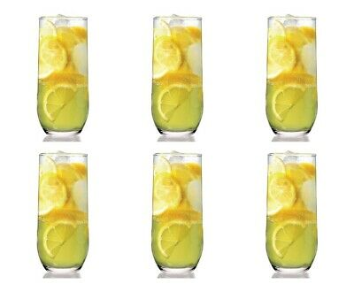 Lav Sude Highball Drinking Glasses Set. Pack Of 6 Water Juice Tableware Glass. • 7.85£