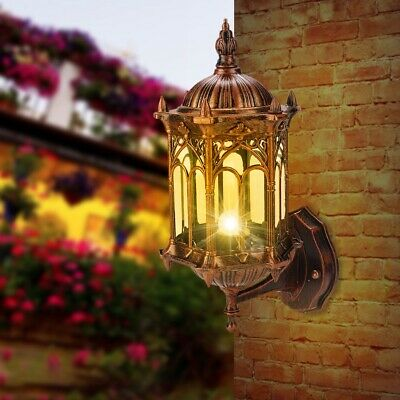 Antique Garden Wall Light Outdoor Yard Lantern Landscape Porch Sconce Lamp • 14.99£