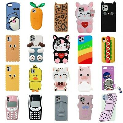 AU5.33 • Buy Case For IPhone 11 Pro Max 7 8 Plus X XR XS Covers Cute 3D Cartoon Silicone Kids