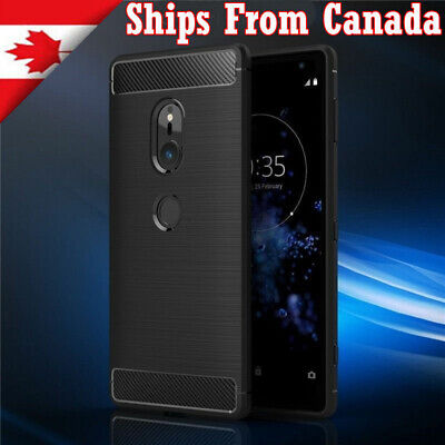 $ CDN3.99 • Buy For Sony Xperia XA2 XZ1 XZ2 Compact Shockproof Carbon Heavy Duty Case Cover