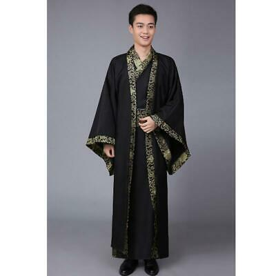 Ancient Chinese Costume Tang Suit Men Hanfu Dress Dynasty Cosplay Party Outfits • 19.92£