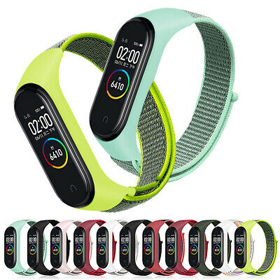 Cover Replaceable Band Strap Wristband Case Nylon Loop For Xiaomi Mi Band 3 4 • 2.56$