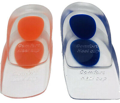 Pair Unisex Silicone Gel Comfort Heel Cup Cushion Insole Sole Insert Shoe AC1060 • 2.75£