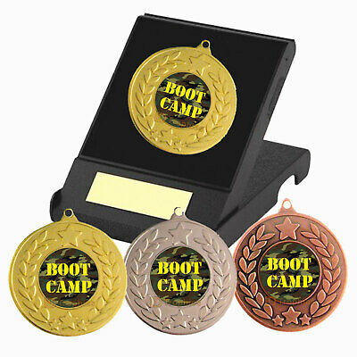 £4.35 • Buy Boot Camp Medal In Presentation Box, Free Engraving, Boot Camp Trophy Award