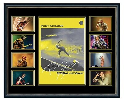AU99.99 • Buy Post Malone Australia 2019 Tour Signed Limited Edition Framed Memorabilia