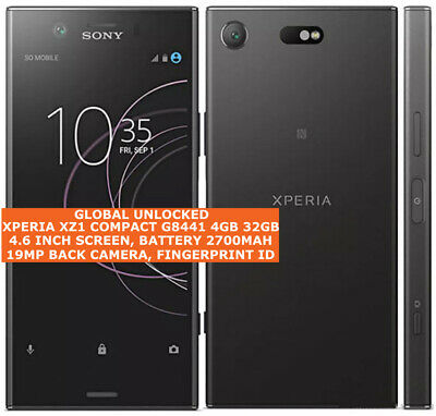 $ CDN416.60 • Buy SONY XPERIA XZ1 COMPACT G8441 4gb 32gb 19mp Fingerprint 4.6  Android Smartphone