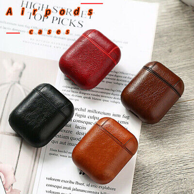 $ CDN5.38 • Buy Genuine Leather Airpods Case Earphone Protective Skin Cover For AirPod
