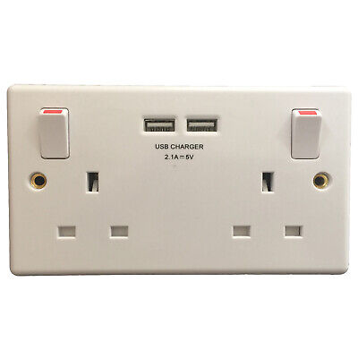 £59.99 • Buy Audio Listening Sound Recorder Bugging Device Double Wall Socket & Usb Charger