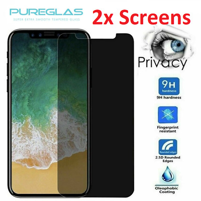 AU10.95 • Buy 2x Pureglas Privacy Tempered Screen Protector IPhone 11 Pro XS Max XR 8 7 6 Plus