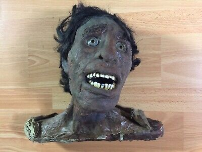 £213.68 • Buy Vintage Carnival Sideshow Movie Prop Gaff Zombie Head Halloween Scary