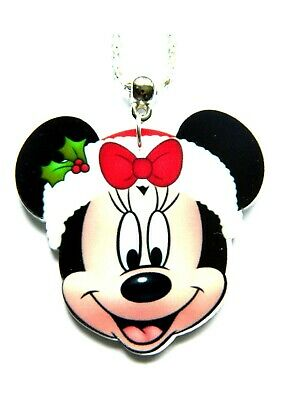 Christmas  Disney Earrings Or Necklace Minnie Tinkerbell Stitch • 3.99£