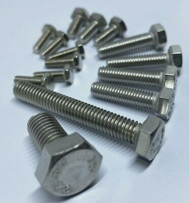 AU5.50 • Buy M6 M8 M10 M12 Hex Set Screw Stainless Steel 316 Metric Coarse