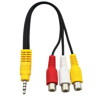 3.5mm Mini AV Aux Male To 3RCA Female Audio Video Cable Stereo Jack Adapter Cord • 1.79£