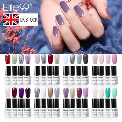 Elite99 Nail Gel Polish 4/6PCS Colour Varnish Manicure Gift Box Set Base Top • 5.99£