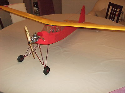 RC Radio Controlled Vintage Aeroplane Aircraft Quaker Flash With Paw Diesel Used • 120£