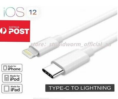 AU12.95 • Buy 2X Genuine USB-C USB 3.1 Type C To Lightning Cable For Macbook IPhone 11