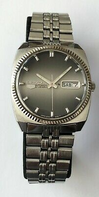 $ CDN170 • Buy Vintage Seiko 6319-8060 Automatic 21 Jewels Black Dial Day Date Stainless Steel