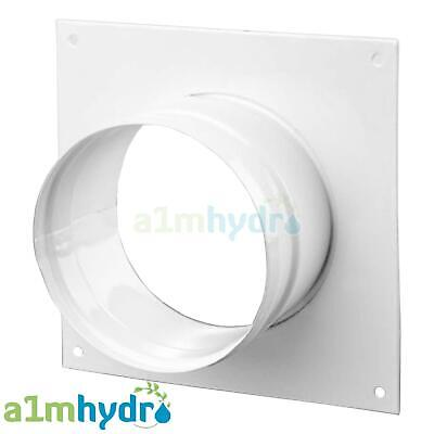 Metal Ducting Wall Plate For Grow Room Ventilation Extract Fans Hydroponics • 7.99£