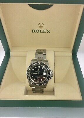 $ CDN25395.40 • Buy Rolex GMT Master II Stainless Steel Black Ceramic Bezel 116710LN