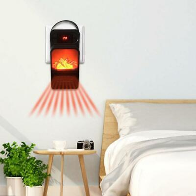 Electric Space Heater Fireplace Flame Timer Fan Air Blower Silent Warmer C0N2 • 15.48$