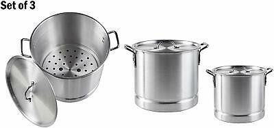 $82.01 • Buy IMUSA 00064 3pc Steamer 12/20/32Qt Set With Lid And Removable Rack