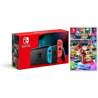 $359.95 • Buy Nintendo Switch 32GB Console New Version With Mario Kart 8 Deluxe Bundle