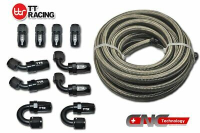 AU131.67 • Buy 6 AN-6 Stainless Steel Fuel/Oil/Gas Line Hose BK 20FT 6M End 10 Fittings Kit +
