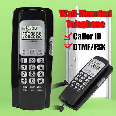 £11.17 • Buy Wall-Mounted Corded Telephone Desktop Phone DTMF FSK Caller ID Home Office Hotel