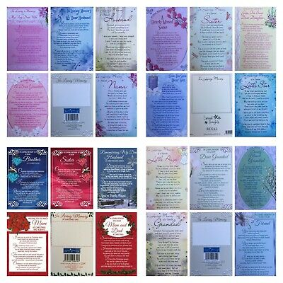 Graveside Memorial Remembrance Cards (#) INCLUDING CLEAR PLASTIC CARD HOLDER • 2.74£