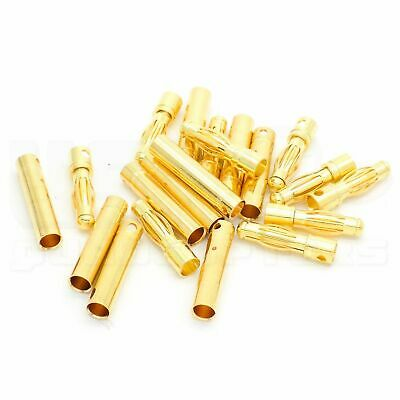 $5.95 • Buy 10 Pairs 4mm Bullet Connector Gold Plated Copper Alloy 90A RC Battery Connection