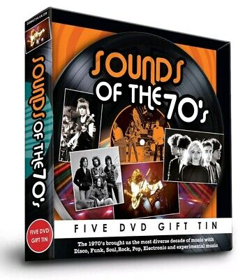 Sound Of The 70's 5 DVD Gift Tin Christmas Disco Funk Soul Rock Pop Electronic • 11.99£