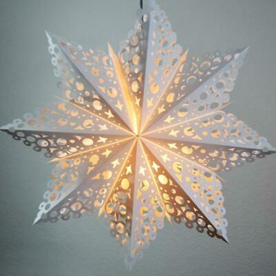 32  Large Winter Solstice Snowflake Paper Star Lantern, Hanging Decoration • 25.47$