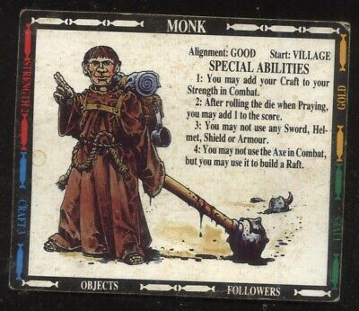 £2 • Buy Monk Character Card Talisman 2nd Edition Games Workshop
