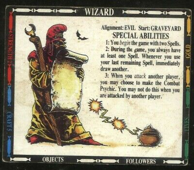 £2 • Buy Wizard Character Card Talisman 2nd Edition Games Workshop