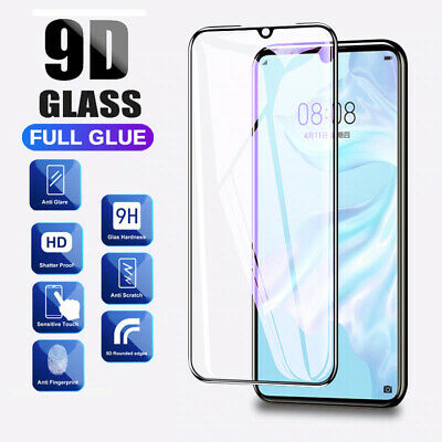 For Huawei P20 P30 Pro Lite Tempered Glass 9D Full Cover Curved Screen Protector • 3.49£
