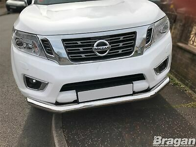 Front Spoiler Bar For Nissan Navara NP300 2016+ Stainless City Nudge Chin Bumper • 119.99£