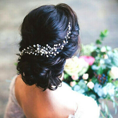 $2.49 • Buy Women Bride Bridal Hair Comb Wedding Party Headwear Pearl Jewelry Accessories