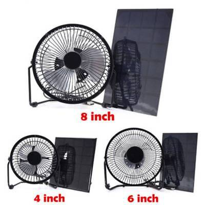 AU39.89 • Buy 4 /6 /8  Solar Powered USB Fan 5/6/8/10W Solar Panel Saving For Home Cooling New