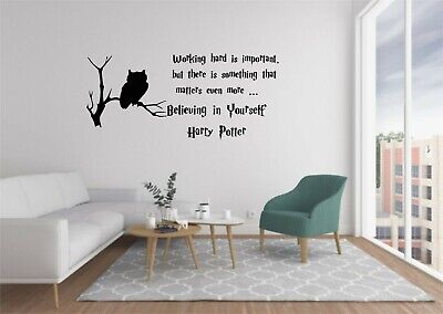 £11.99 • Buy Harry Potter Vinyl Wall Decals Quote Home Decor Bedroom  Wall Stickers FREE POST
