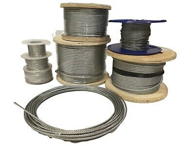 £1.20 • Buy Galvanized Wire Rope 7x7 Steel Core - Catenary - 1mm 1.5mm 2mm 3mm 4mm 5mm 6mm
