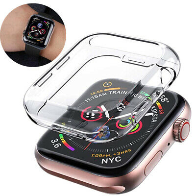 $ CDN2.96 • Buy For Apple Watch Series 5 4 3 2 1 TPU Protector Cover Case 38mm 42mm 40mm 44mm CA