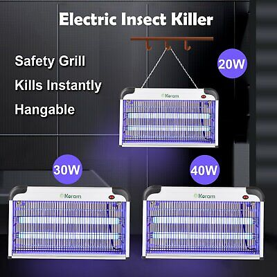 20W/30W/40W Electric Insect Mosquito Fly Killer Bug Zapper Indoor Pest Catcher • 7.99£