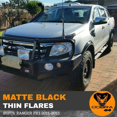 AU299 • Buy Matte Black Fender Flares Thin Fits Ford Ranger Px Px1 Mk1 2011 - 2015 Slim