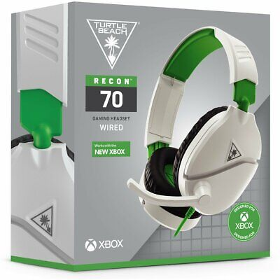 AU69.95 • Buy Turtle Beach Recon 70 Wired Gaming Headset (White/Green) (Xbox One/PS4/Switch/PC