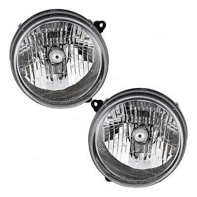 $59.03 • Buy Pair Headlights For 03-04 Jeep Liberty Lens W/ Housing Set 55155809AB 55155808AB