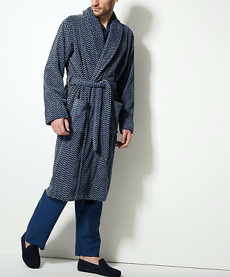 NEW M&S Collection Blue Luxury Supersoft Velour Dressing Gown Perfect Gift • 24.98£