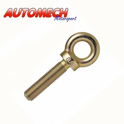 Seat Belt Harness Eye Bolt, 50mm Plated Finish (8.8 Rating) MSA SVA FIA Approve • 3.29£