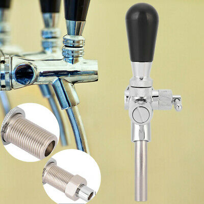 Adjustable Beer Faucet Tap W/Ball Lock Liquid Disconnect For Corny Keg Draft Bee • 23.56£