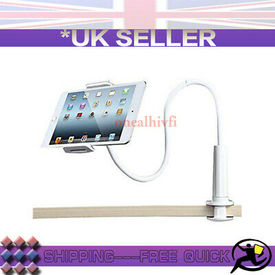 White 360° Bed Desk Stand Holder For IPhone IPad Air Mini Tablet Gooseneck Lazy • 7.69£