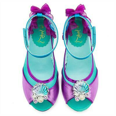 NWT Disney Store Ariel Shoes Costume Shoes Little Mermaid Many Sizes Girls • 26.99$